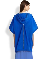 Band of Outsiders | Blue Hooded Nylon Jacket | Lyst