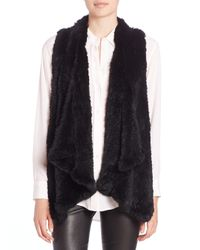 H Brand | Indie Fur Vest - Black | Lyst