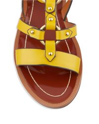 Charles by Charles David | Yellow Anna Leather Sandals | Lyst