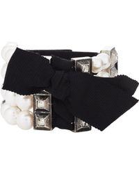 Lanvin | Black Perles Royales Bracelet | Lyst