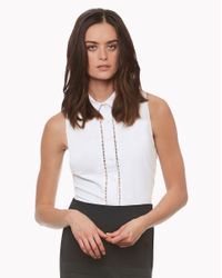 Veronica Beard | White Venture Peplum Top | Lyst