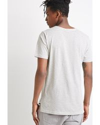 Forever 21 - Natural Vented Stripe Tee for Men - Lyst