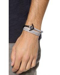Miansai - Gray Anchor Half Cuff for Men - Lyst