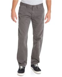 Lucky Brand | Gray Classic Chino Pants for Men | Lyst