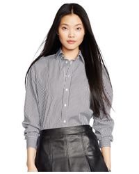 Polo Ralph Lauren | Black Striped Button-front Shirt | Lyst