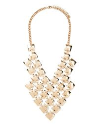 Forever 21 - Metallic Square Bib Statement Necklace - Lyst