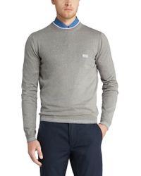 "BOSS Green - Gray \""sweater 'rime_pf' In Cotton Blend\"" for Men - Lyst"