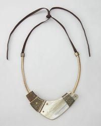 Lanvin | Metallic Horn Necklace | Lyst