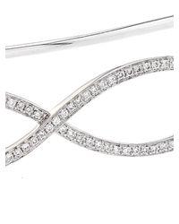 Gaydamak - Metallic Diamond & White-Gold Hand Bracelet - Lyst
