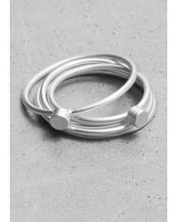 & Other Stories - Metallic Bead-Detail Rings - Lyst