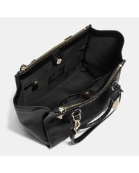 COACH | Black Crosby Leather Tote | Lyst