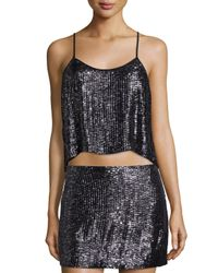 MLV | Black Ozzy Sleeveless Embellished Crop Top | Lyst