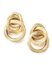Marco Bicego | Metallic Textured Gold Link Earrings | Lyst