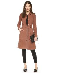 Elizabeth and James - Brown Whitley Suede Coat - Lyst