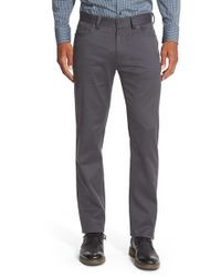 Vince Camuto | Gray Sraight Leg Five Pocket Stretch Pants for Men | Lyst