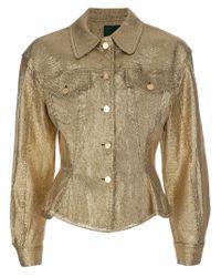 Jean Paul Gaultier | Yellow Metallic Gold Jacket | Lyst