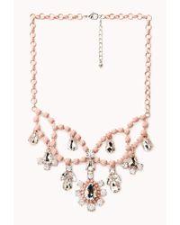 Forever 21 | Pink Sweet Elegance Bib Necklace | Lyst