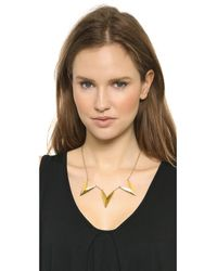 Rebecca Minkoff | Metallic Triple V Necklace - Gold | Lyst
