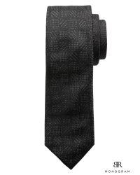 Banana Republic | Black Br Monogram Diamond Dots Silk Tie for Men | Lyst
