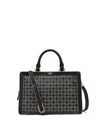 Tory Burch | Black Fret-t Satchel | Lyst