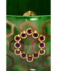 Mark Davis - Green Amethyst And Rhodolite Garnet Bakelite Bangle - Lyst