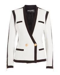 Balmain - White Bi-Color Blazer - Lyst