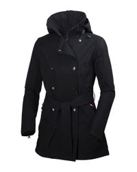 Helly Hansen | Black Welsey Hellytech Weather-proof Trenchcoat | Lyst