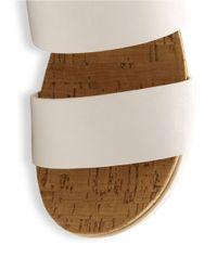 ce33b0aa237b Kensie Boston Flatform Sandals in White - Lyst