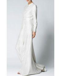 Katie Ermilio - Multicolor Full Sleeve Maxi Blouse Dress - Lyst