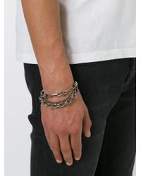 DIESEL | Metallic 'asiula' Bracelet for Men | Lyst