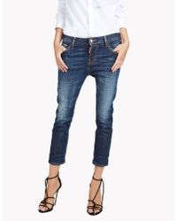 DSquared² | Blue Cool Girl Cropped Jeans | Lyst