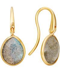 Astley Clarke - Pink Small Stilla Labradorite Drop Earrings - Lyst