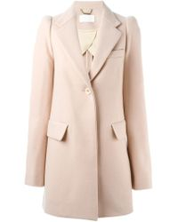 Chloé - Pink Classic Coat - Lyst