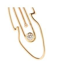 Hillier - Metallic Mytheresa.com Exclusive Feather Paper Clip 14kt Yellow Gold Necklace With White Diamond - Lyst