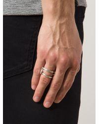 1-100 | Metallic '80' Ring | Lyst