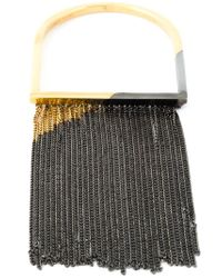 MM6 by Maison Martin Margiela | Gray Fringed Bangle | Lyst