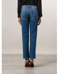 PAIGE - Blue Porter Boyfriend Stretch-Denim Jeans - Lyst