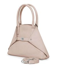 Akris | Pink Ai Mini Cervo Leather Messenger Bag | Lyst