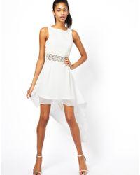 AX Paris - White Skater Dress - Lyst