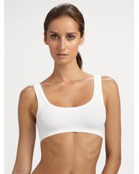 Hanro | White Touch Feeling Crop Top | Lyst