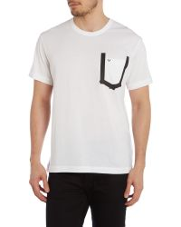 True Religion - White Plain Crew Neck T-shirt Regular Fit for Men - Lyst