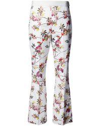 Giambattista Valli | White Floral Print Trousers | Lyst