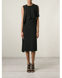 Givenchy - Black Draped Layered Dress - Lyst