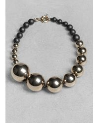 & Other Stories - Metallic Sphere Necklace - Lyst