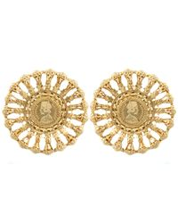 Kastur Jewels - Metallic Victorian Regal Statement Earrings - Lyst