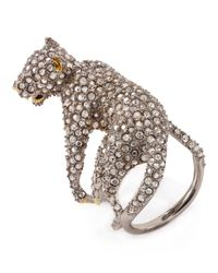Alexis Bittar - Metallic Elements Lounging Panther Cocktail Ring - Lyst