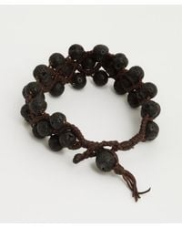 Tai | Black Lava Bead Three Strand Cinch Bracelet | Lyst
