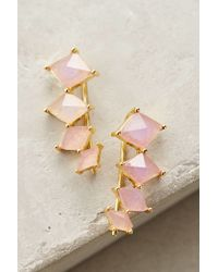 Melanie Auld | Pink Losange Ear Climbers | Lyst