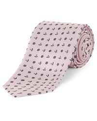 Jaeger | Pink Flower Dot Tie for Men | Lyst