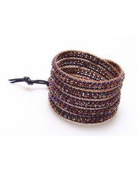 Nakamol - Purple Littie Wrap Bracelet-Amethyst - Lyst